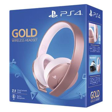 PS4 Gold Wireless Headset -...